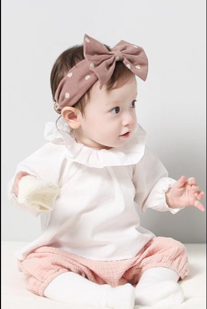 Baby Polka Dot Elastic Bowknot Headband