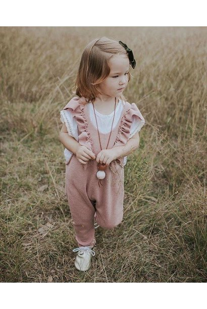 Toddler Pink Ruffle Jumpsuit