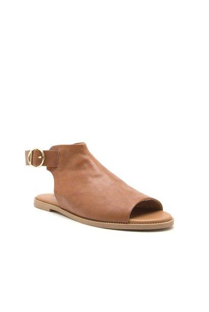 Desmond Camel Open Toe Mule Sandals