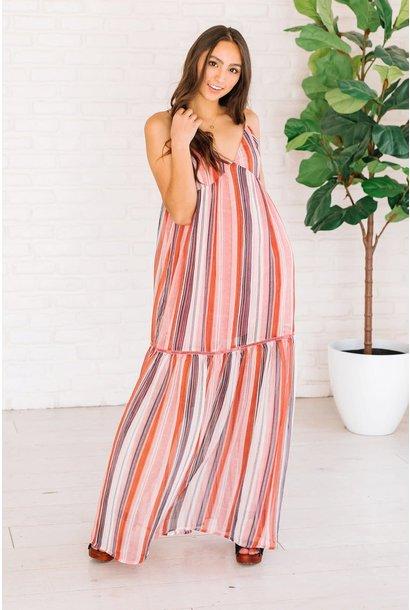 Sailor's Delight Striped Maxi Dress