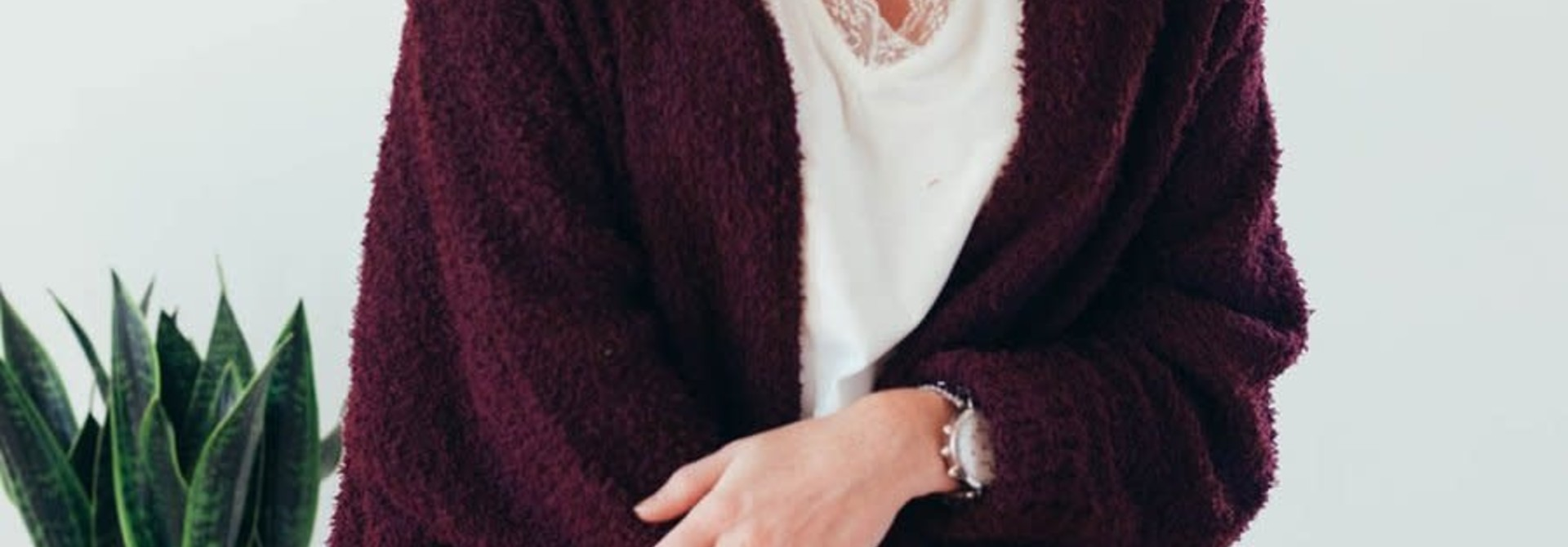 Warming Up Burgundy Popcorn Sweater Cardigan