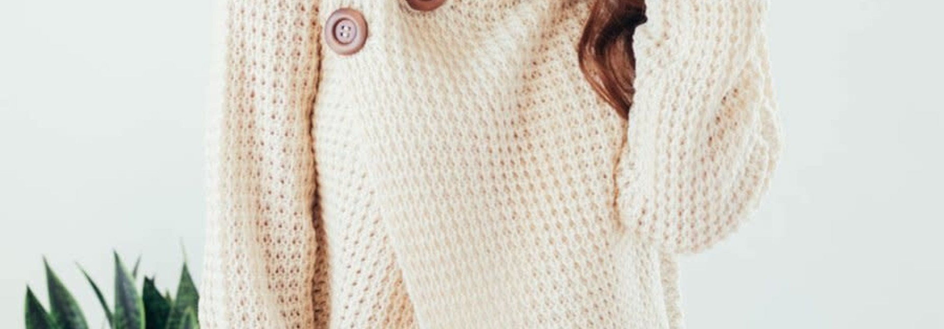 Changing Seasons Oatmeal Crossover Button Knit Top