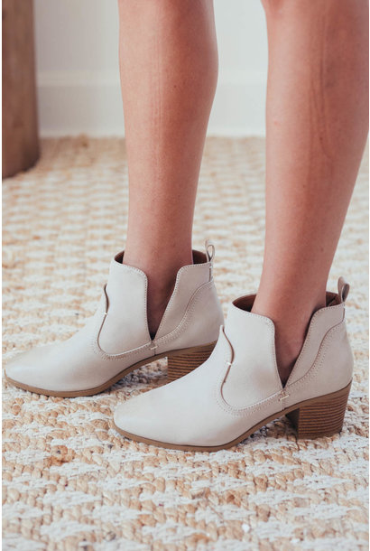 Renna Stone Side V Cut Booties