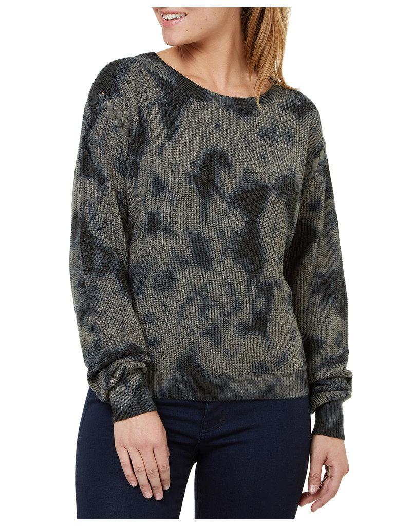 Numero Brands LS Sweater Lace Up Shoulder