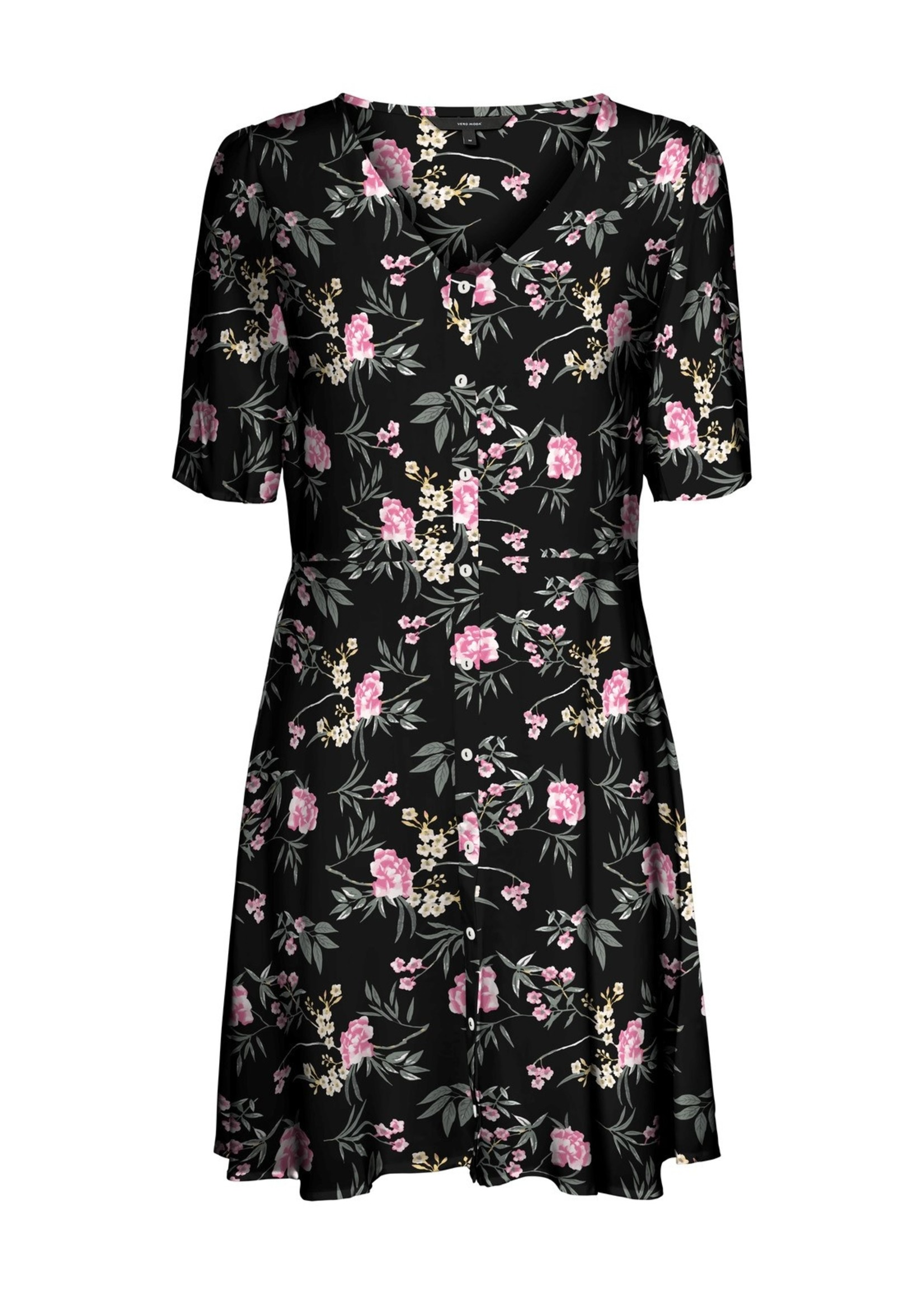Vero Moda VMSIMPLY EASY SS BUTTON DRESS WVN GA