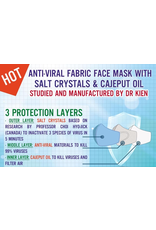 Anti-viral Fabric Face Masks With 3 Protection Layers Pack (5pcs)