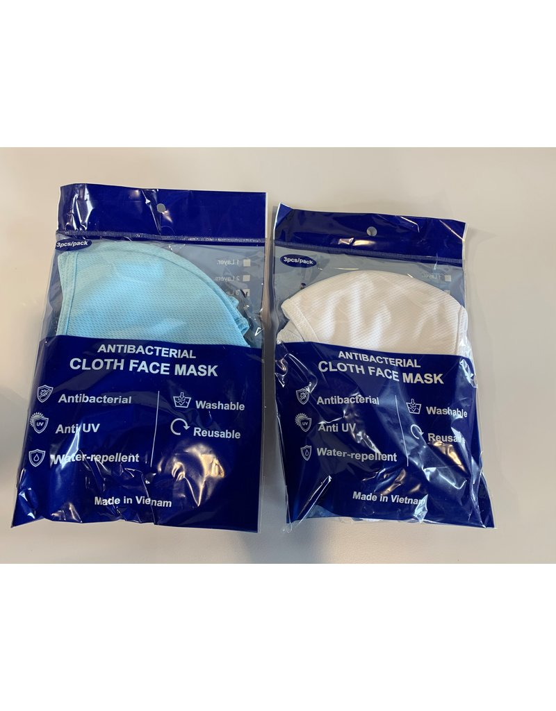 Anti-Bacterial Cloth Face Mask Package (3 pcs)