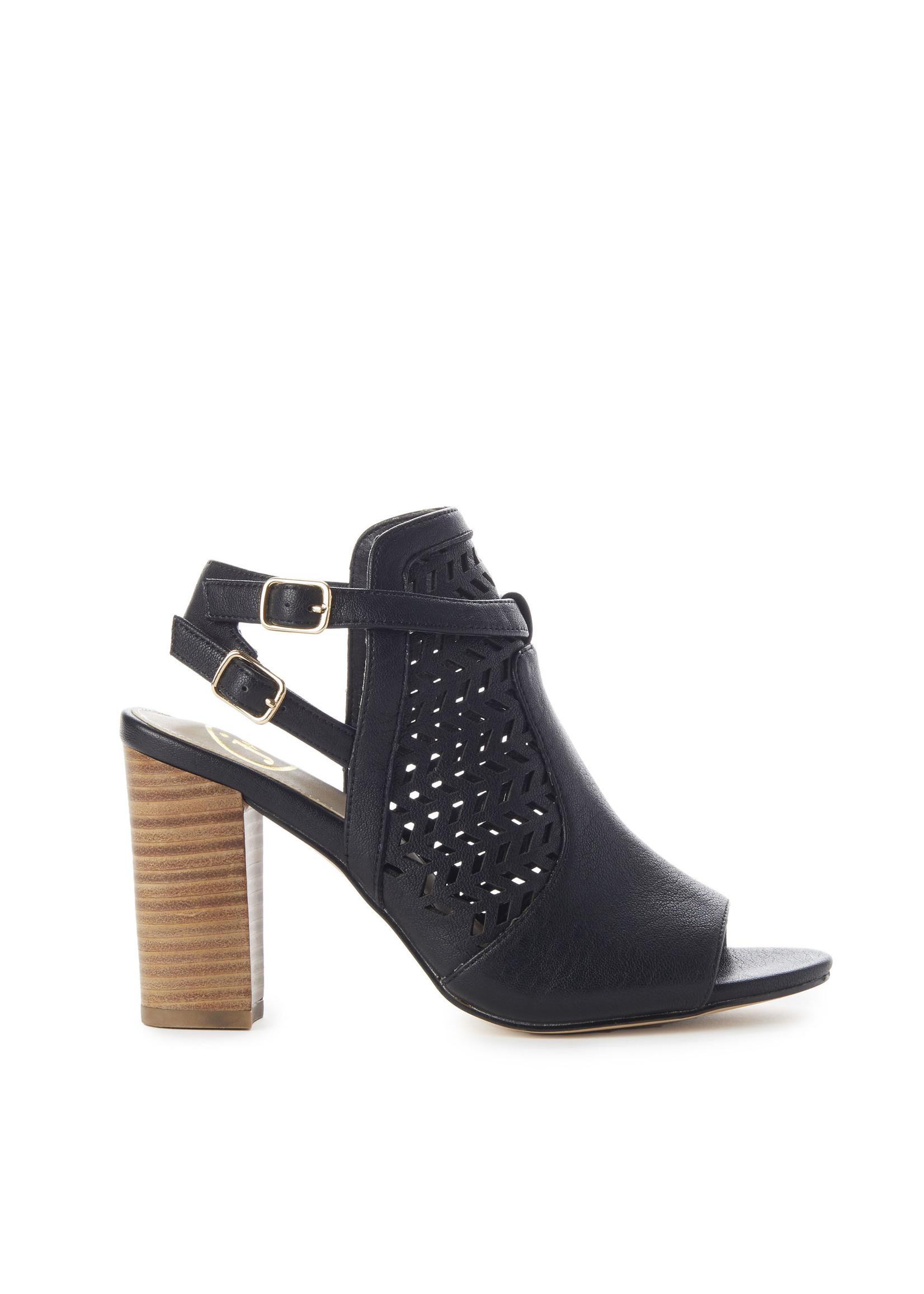 Jeane&Jax Kimberly - Perforated Stacked Heel