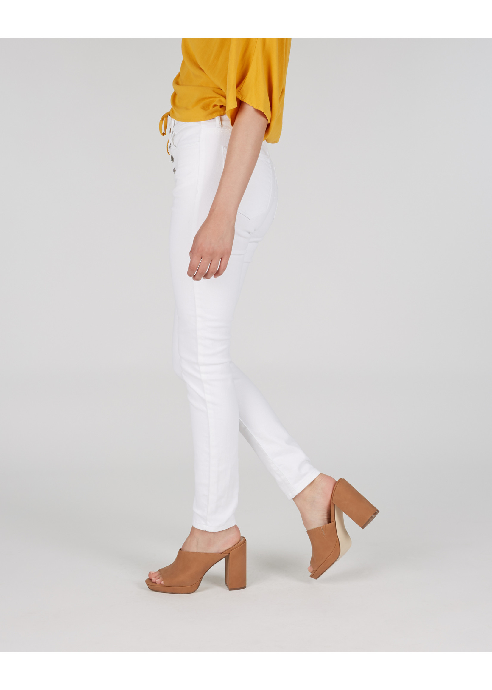 Numero Brands Verona Ankle - High Rise - Skinny Ankle - Exposed Button - 29''