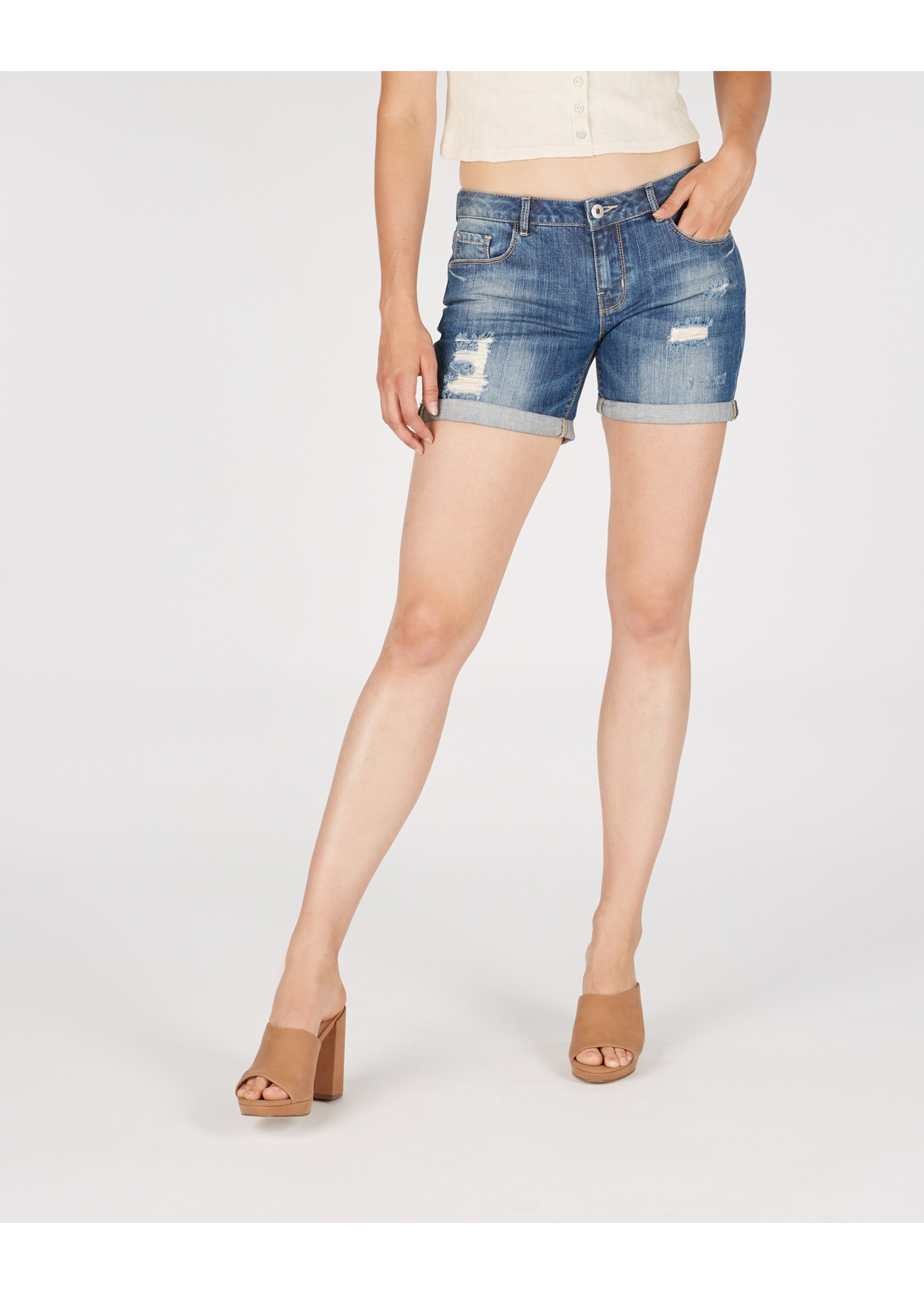 Numero Brands Boyfriend Short - Mid Rise - Roll Up Hem