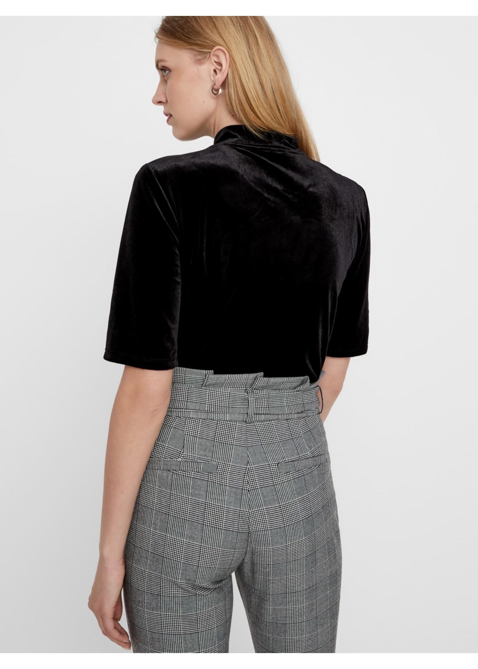 Vero Moda Eva Loose Paperbag Plaid Pants