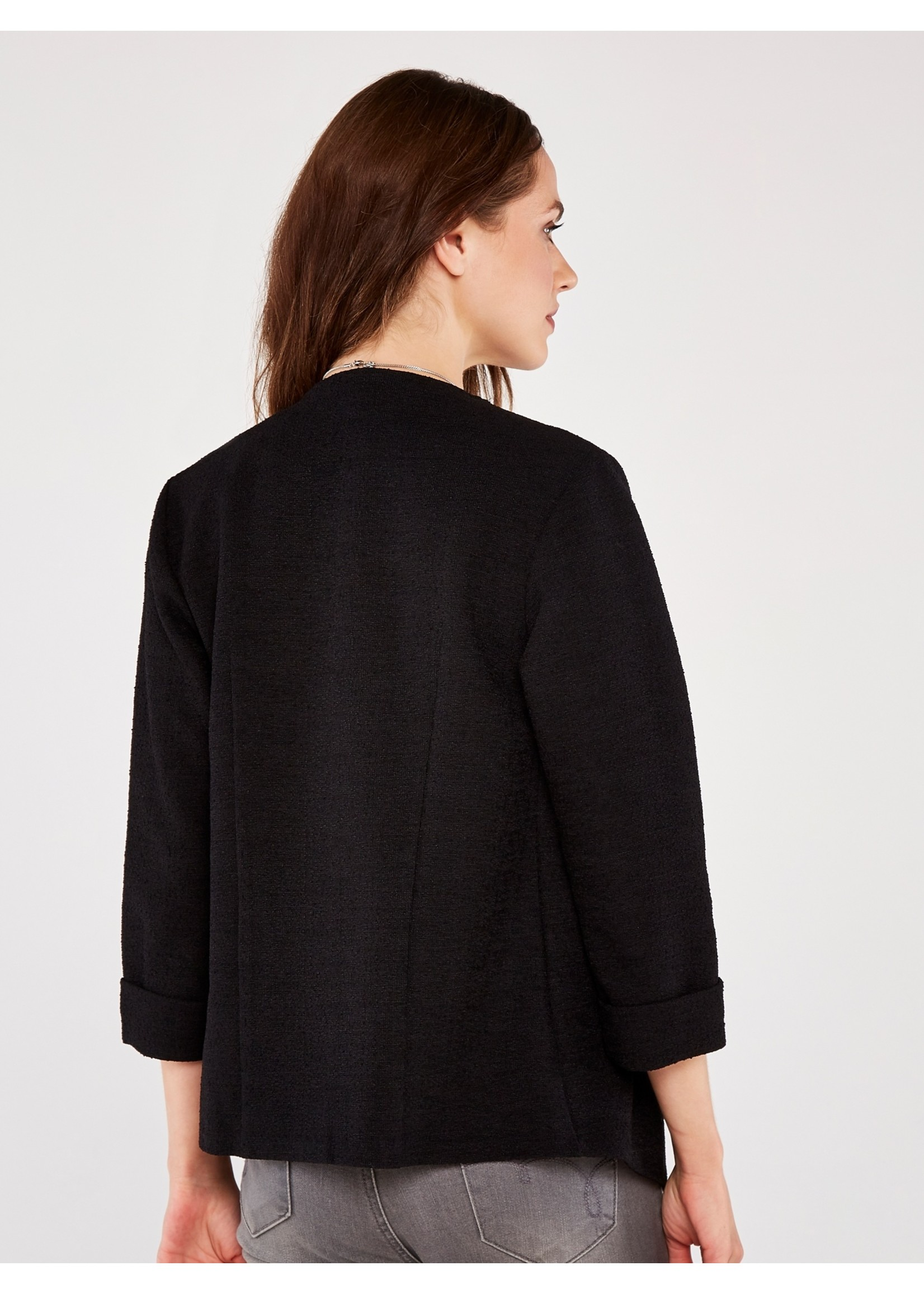Apricot Knitted Boucle Blazer