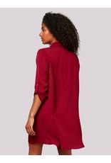Apricot Shirt Swing Dress