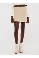 Apricot Knitted Mini Skirt