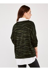 Apricot Abstract Zebra Oversized Top
