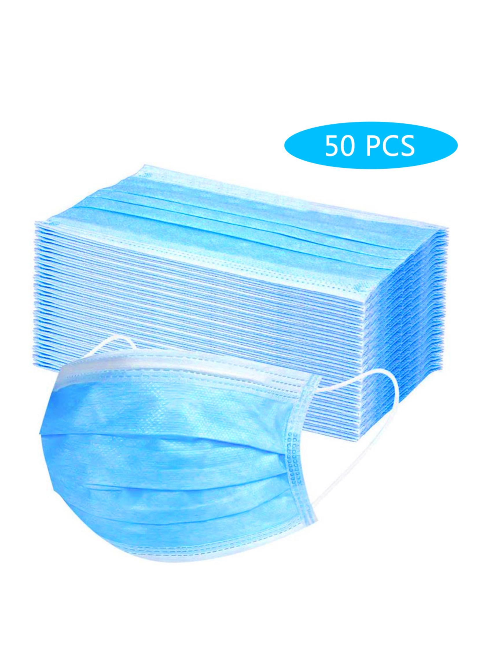 50PCS Disposable Face Mask 4 Layers