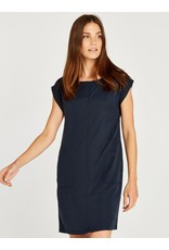 Apricot 2 Side Pocket Turn Up Sleeve Dress