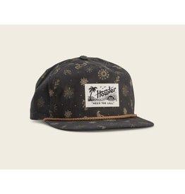 Howler Bros HB Bandito Print Snapback Hat- Antique Black