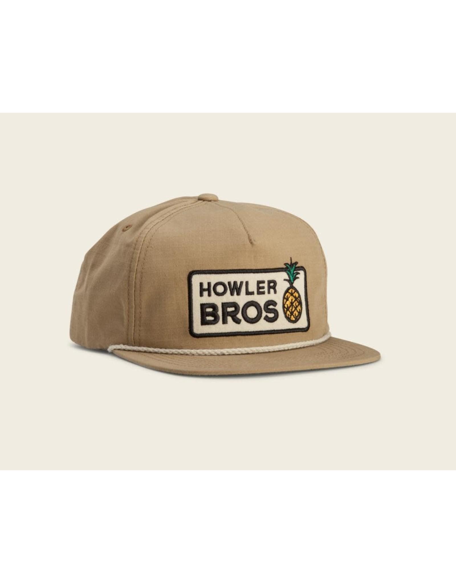 Howler Bros HB Hospitality Snapback Cap- British Khaki