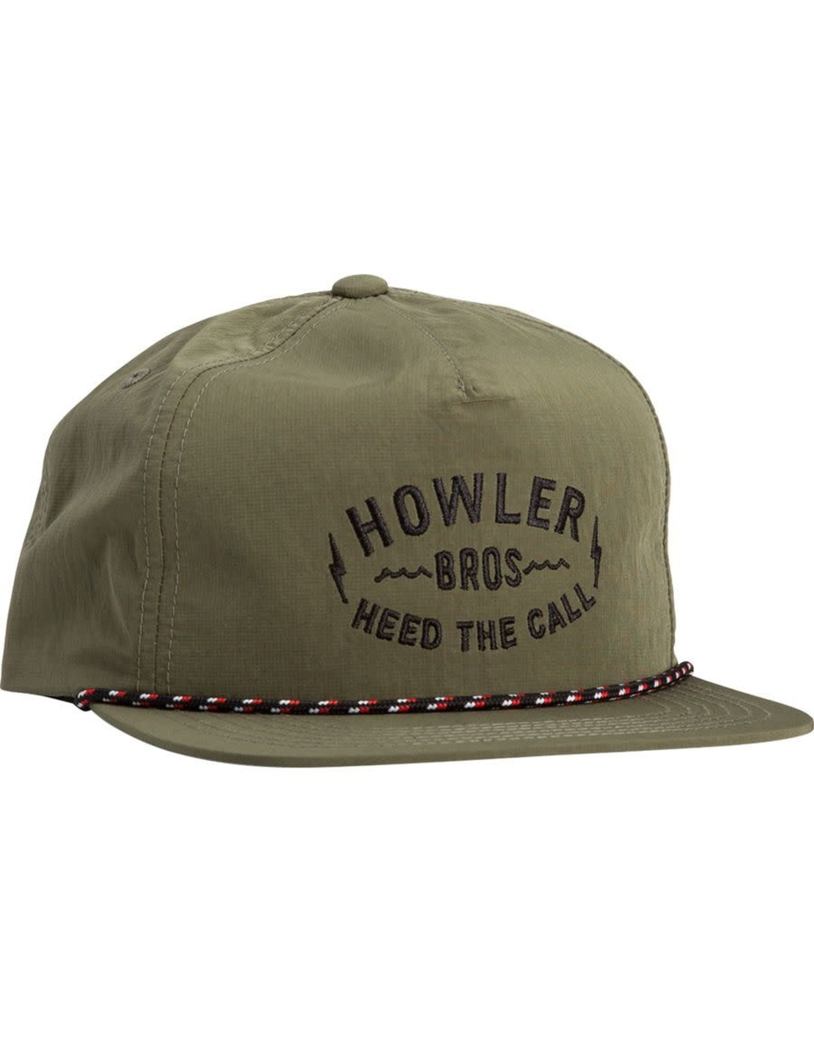 Howler Bros HB Painted Howler Snapback Hat- Olive Nylon