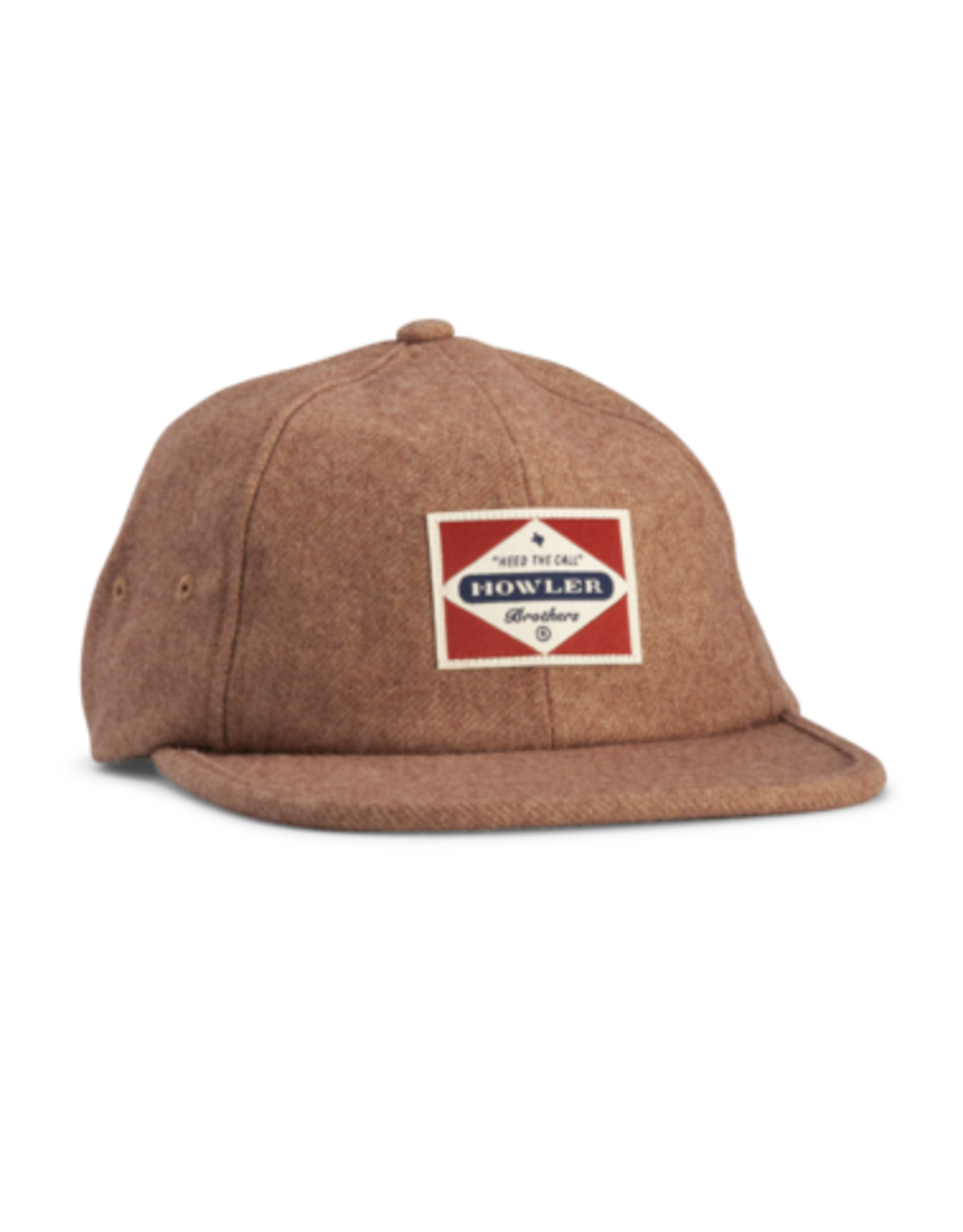 Howler Bros HB Posse Badge Strapback Cap- Tan Flannel