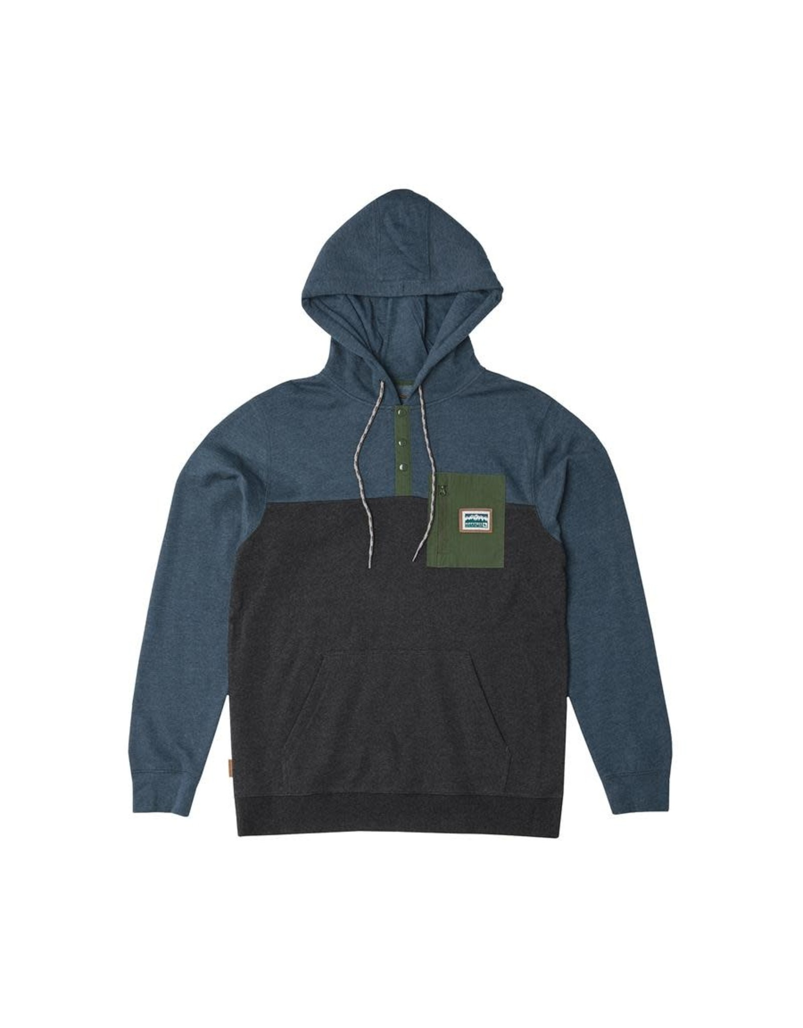 Hippy Tree HT Chattanooga Hoody: Heather Blue- XL