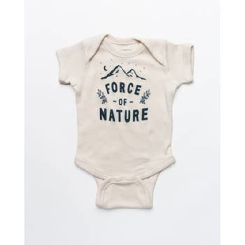Keep Nature Wild Keep Nature Wild Force Of Nature Onesie: Natural - 6mo