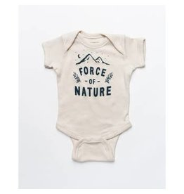 Keep Nature Wild KNW Force Of Nature Onesie: Natural - 18mo