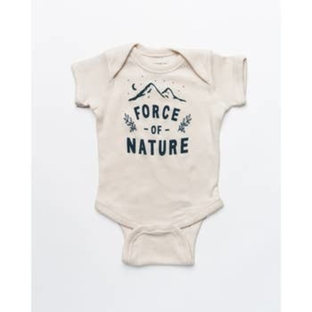 Keep Nature Wild KNW Force Of Nature Onesie: Natural - 24mo