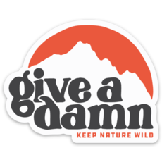 Keep Nature Wild KNW Give A Damn Sticker