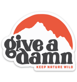 Keep Nature Wild KNW Give A Damn Sticker