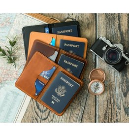 Lifetime Leather Co Lifetime Leather Passport Wallet- Black