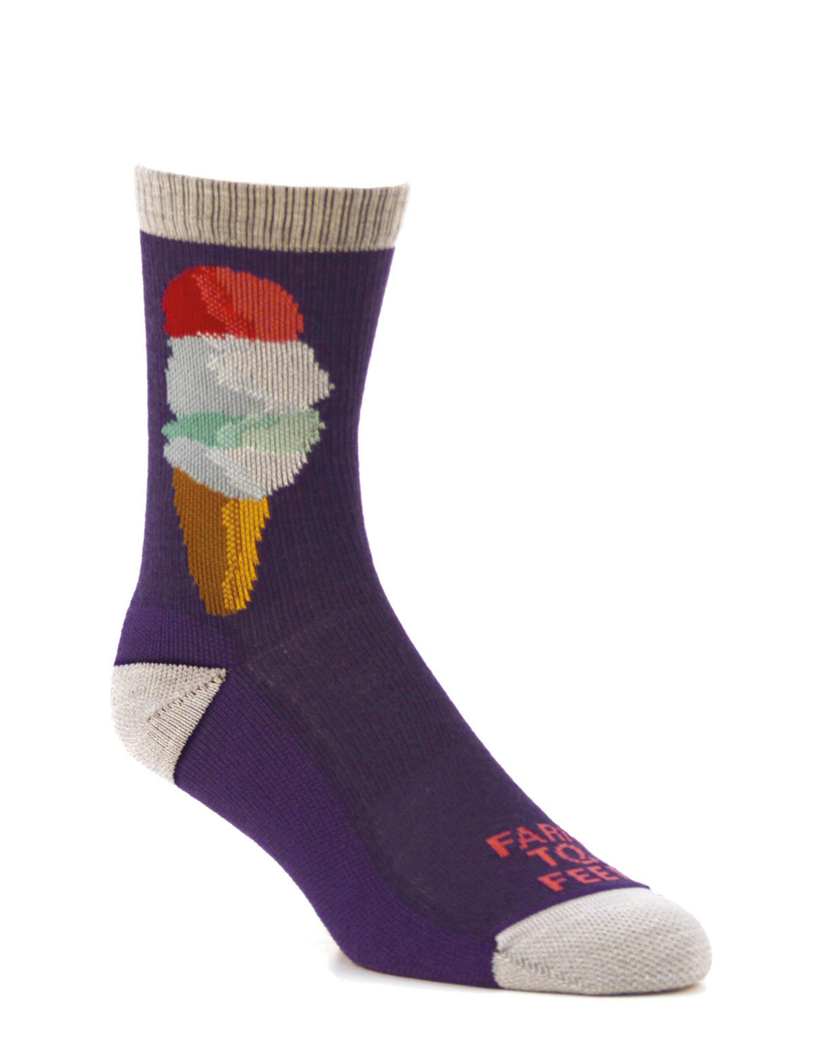 Farm to Feet F2F Kids Ice Cream Crew: Purple- K-M