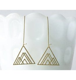 TLJ Overlapping Triangles Earrings: Gold