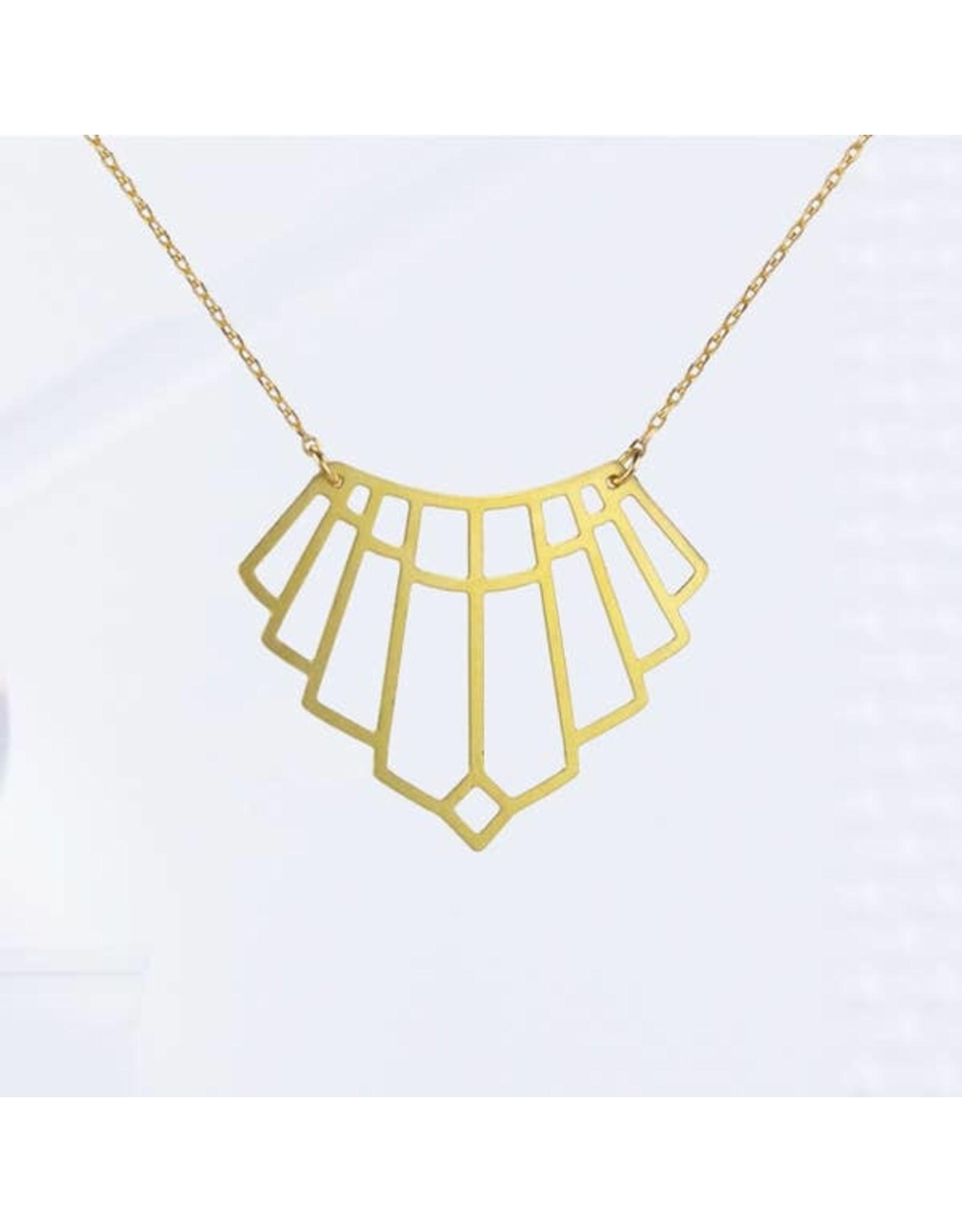 TLJ  Art Deco Arch Necklace - Gold
