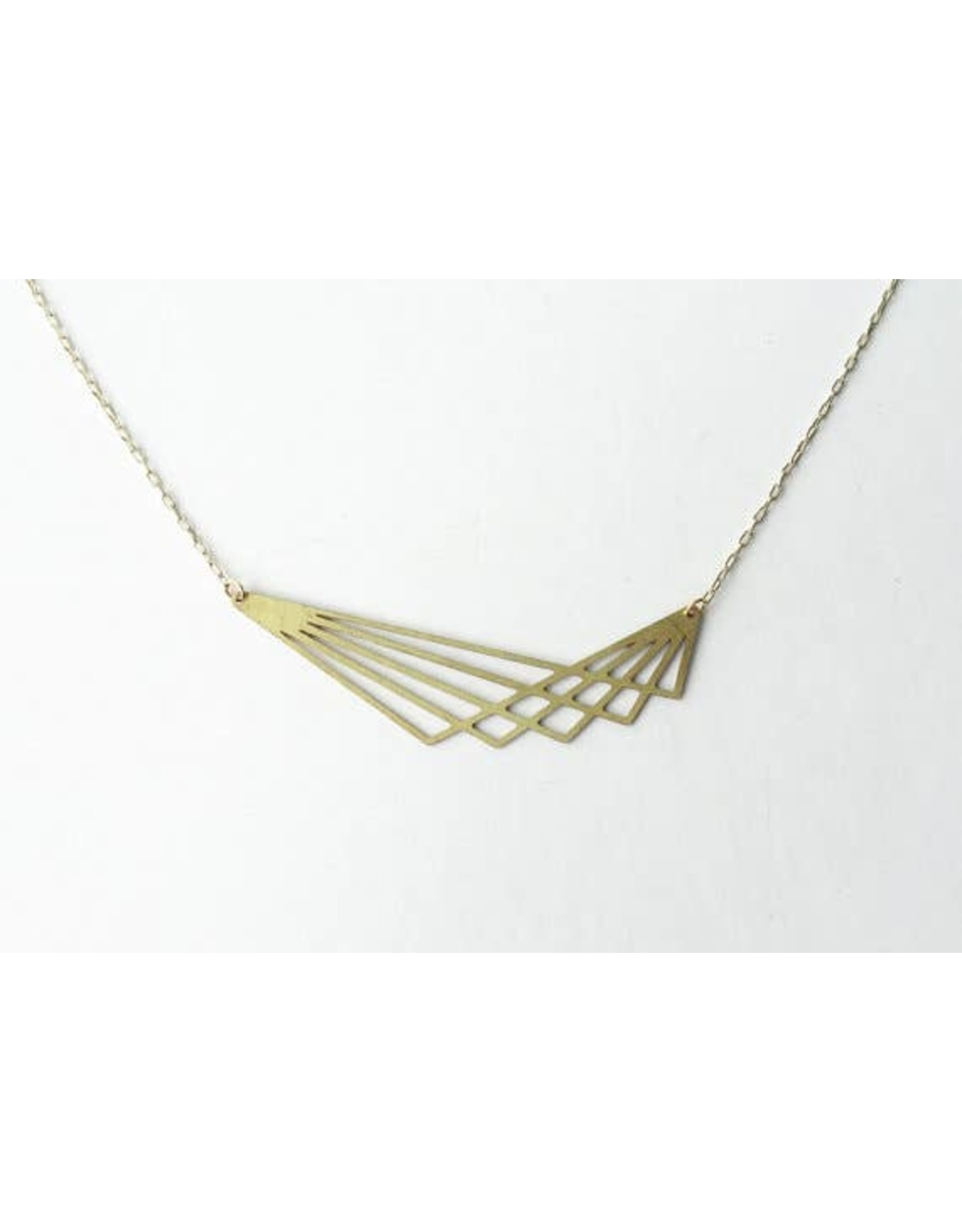 TLJ Geometric Lines Necklace: Gold
