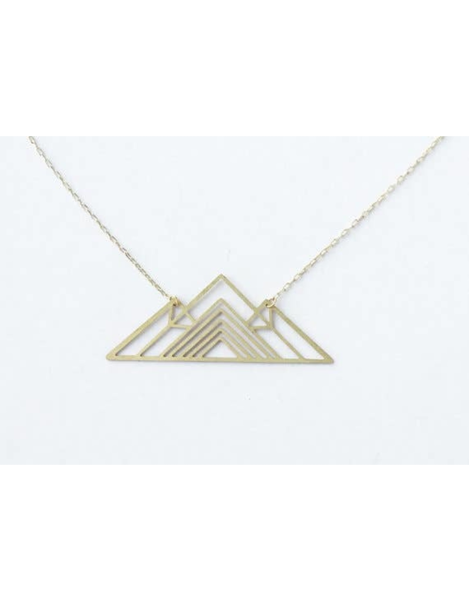 TLJ Geometric Mountain Necklace: Gold