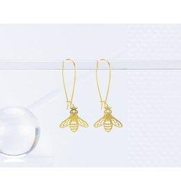 TLJ Honeybee Earrings: Gold