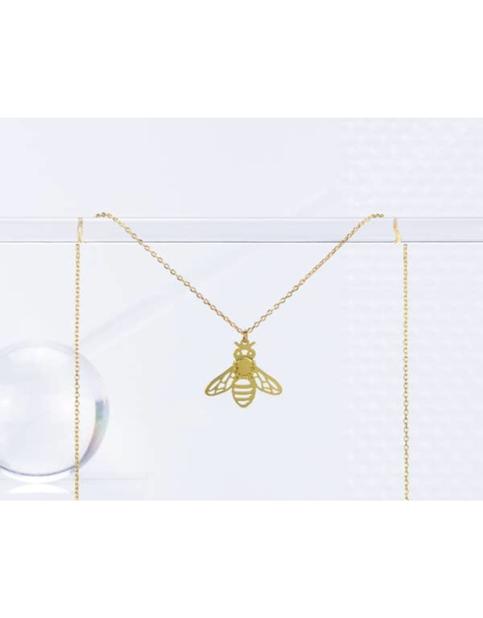 TLJ Honeybee Necklace: Gold