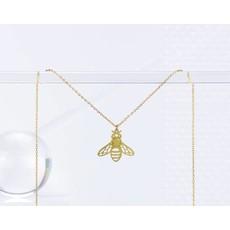 TLJ Honeybee Necklace: Gold