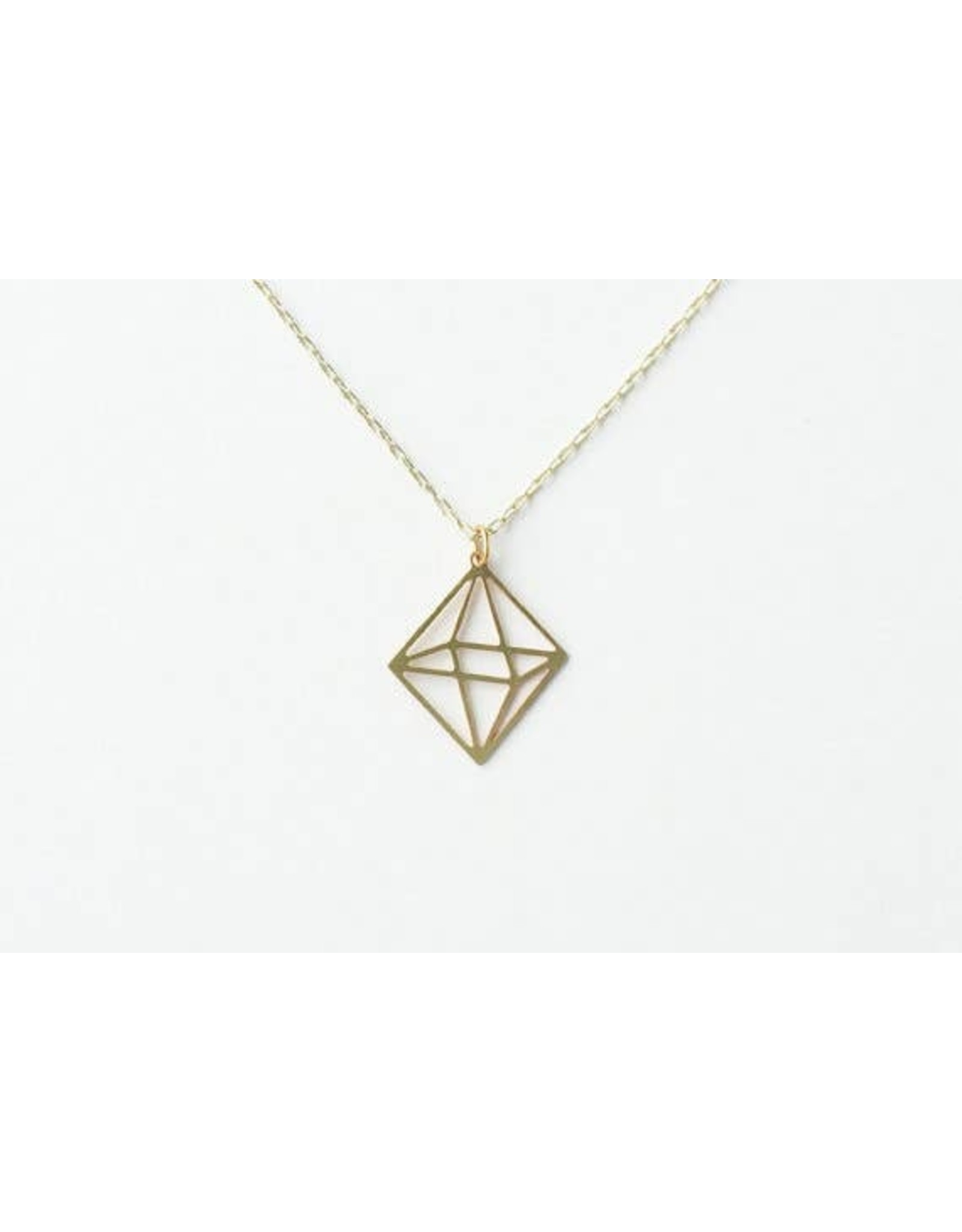 TLJ Octahedron Necklace: Gold