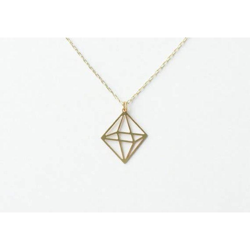 TLJ Octahedron Necklace: Gold