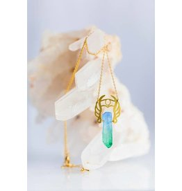 TLJ She-Ra Warrior Necklace: Blue to Green Ombré