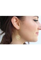 TLJ Succulent Earrings: Gold