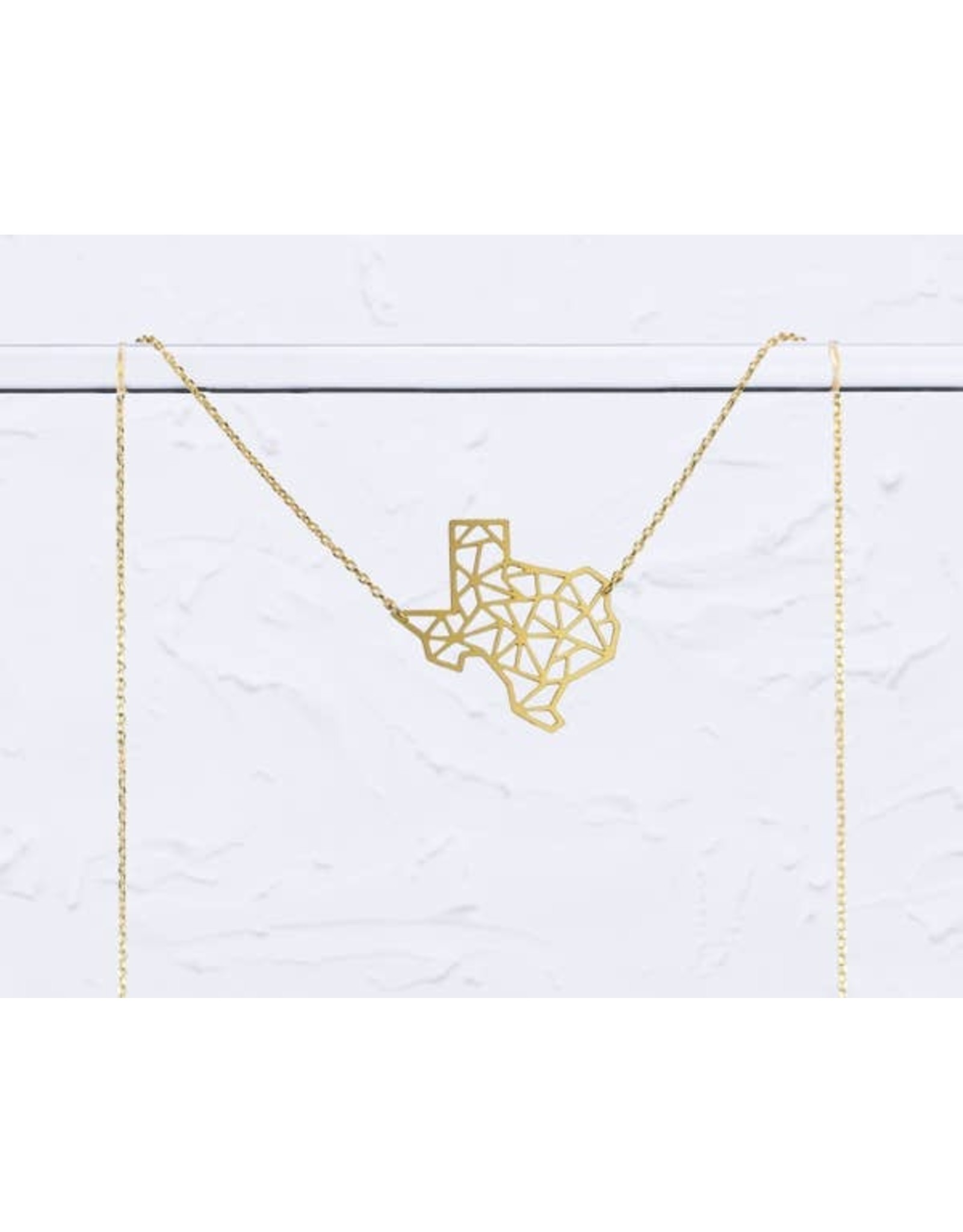 TLJ Texas State Geometric Necklace: Gold