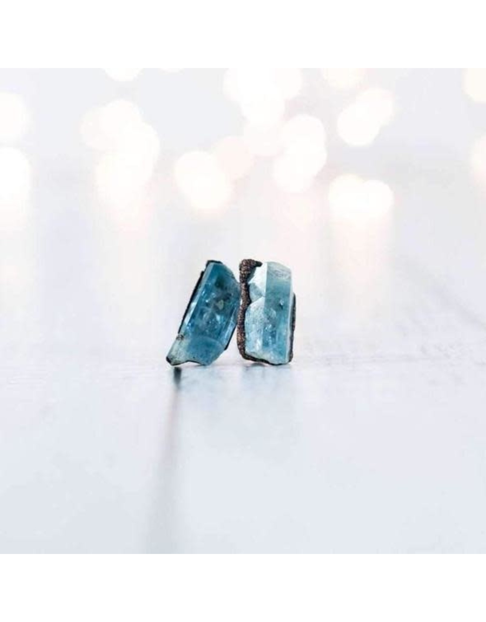 Hawkhouse Aquamarine Stud Earrings