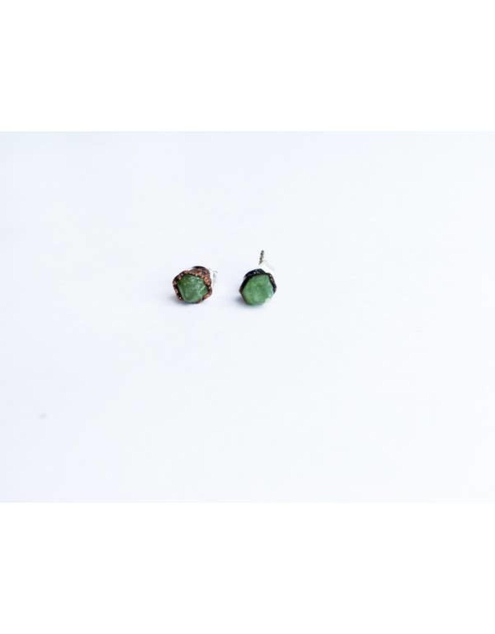 Hawkhouse Green Garnet Stud Earrings