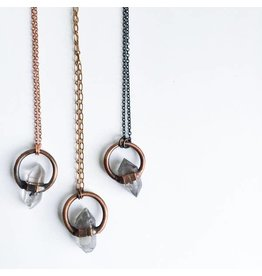 """Hawkhouse 30"""" Anthraxollite Crystal Necklace"""