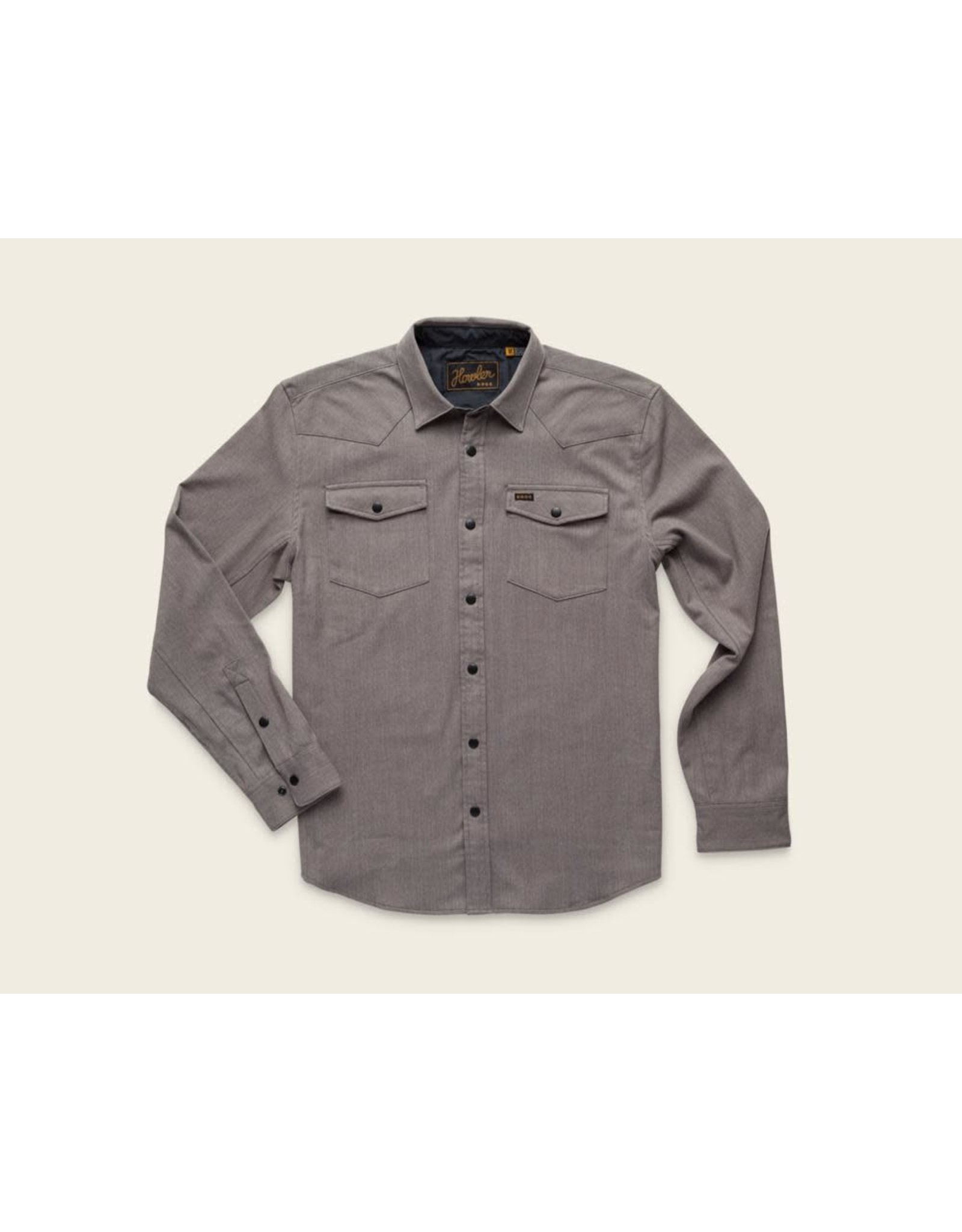 Howler Bros HB Stockman Stretch Snapshirt - Mountain Grey