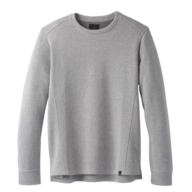 Prana Prana Norcross Crew: Heather Grey- XL